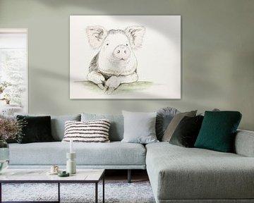Das zufriedene Schwein von Natalie Bruns