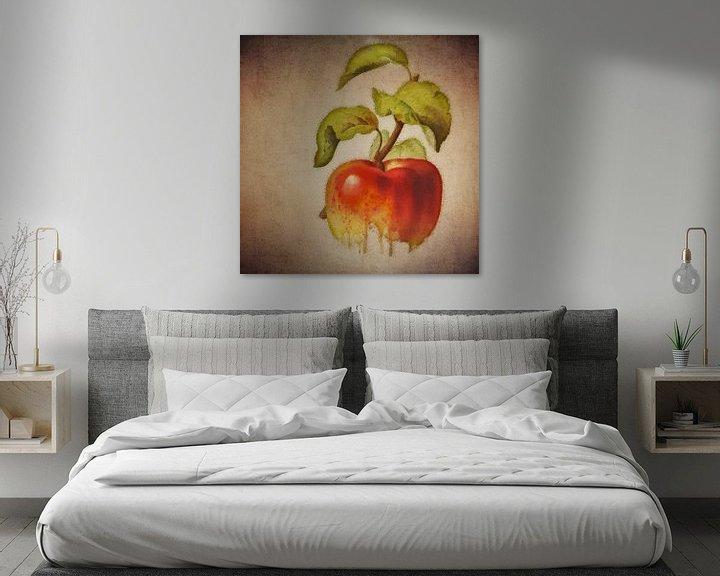 Sfeerimpressie: Rode appel - Antieke tekening van een Rode appel    Bloemen Collectie © designed by Jan Keteleer van Jan Keteleer
