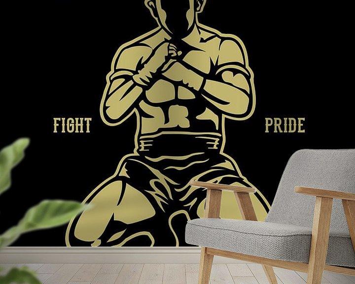 Beispiel fototapete: Muay Thai Boxing von Felix Brönnimann