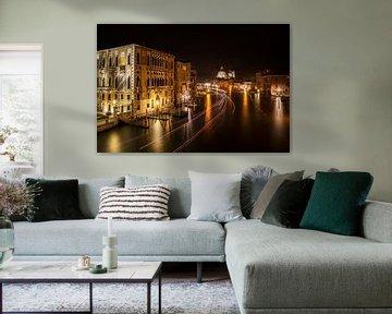 VENEDIG Nachts am Canal Grande von Melanie Viola