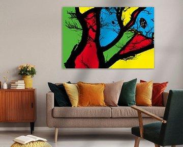 Composition avec des zones de couleur sur Raoul Suermondt