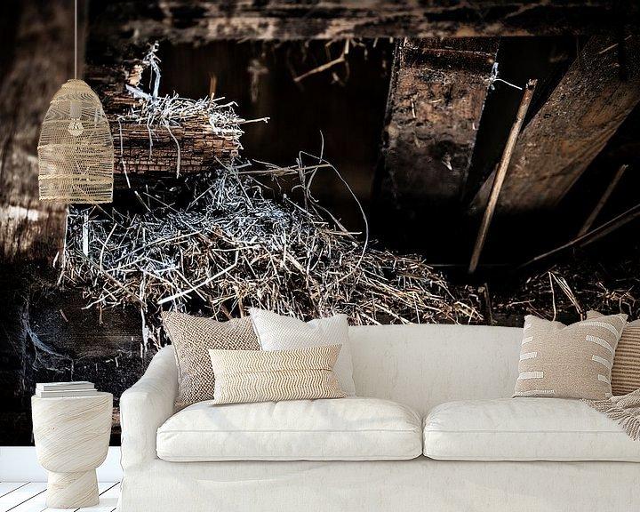 Sfeerimpressie behang: Old Farm #2 van Cristel Brouwer