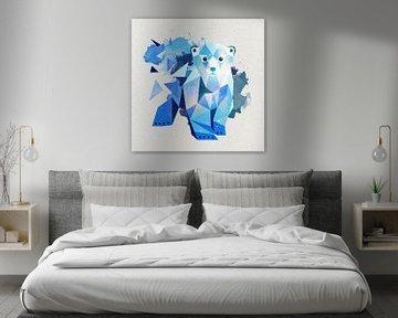Eisbär Polygon Art von Felix Brönnimann