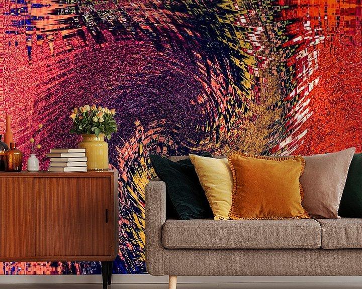 Sfeerimpressie behang: Heftig maar kleurrijk van Dick Jeukens