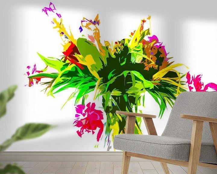 Impression: Des fleurs dans un vase. La photo a été modifiée. sur Maerten Prins