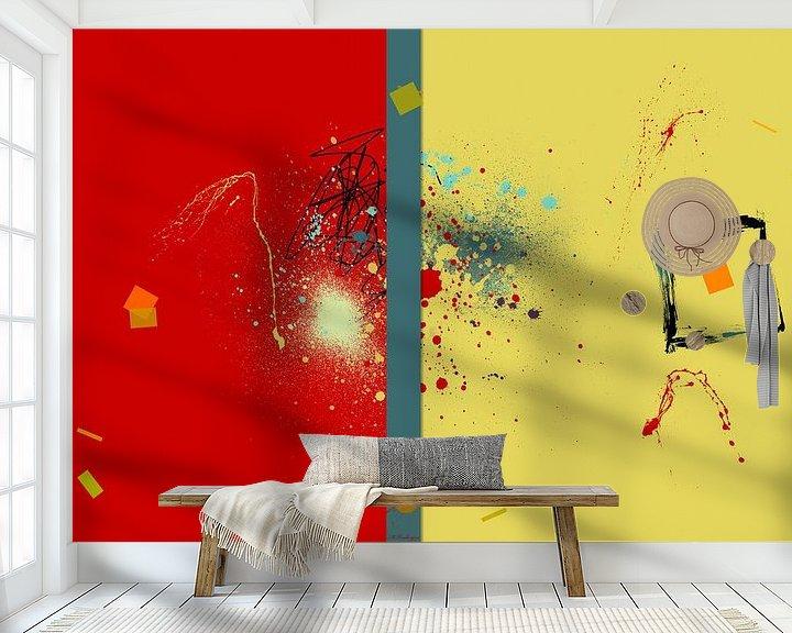 Beispiel fototapete: Abstrakt Rot Gelb von Marion Tenbergen