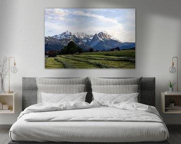 Zugspitze - de hoogste berg in Duitsland van Hidde Hageman