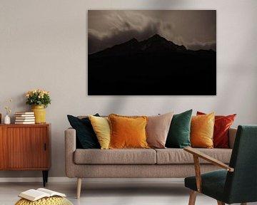 Berg in het maanlicht van Hidde Hageman