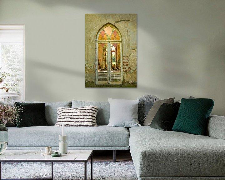 Beispiel: Verblasste Terrassentür mit Buntglasfenster von Martine Moens