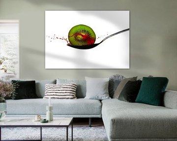 Kiwi splah fotografie von Pepijn Knoflook