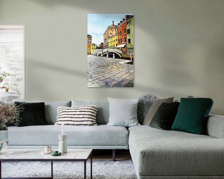 Sfeerimpressie: Venetië | Aquarel schilderij van WatercolorWall