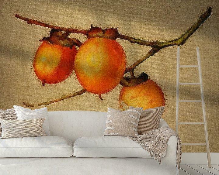 Sfeerimpressie behang: Oranje bessen van Jan Keteleer