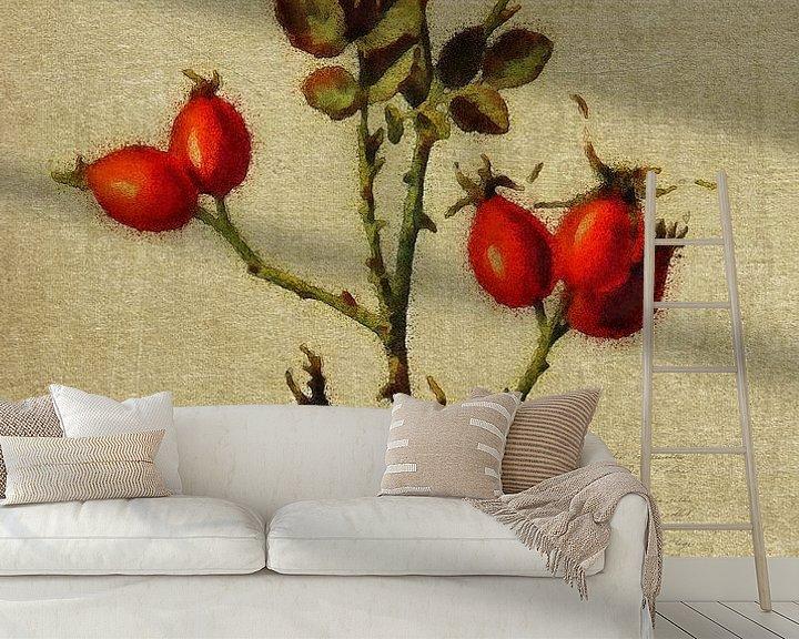 Sfeerimpressie behang: Rode bessen van Jan Keteleer