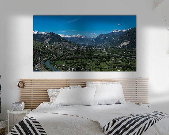 Sfeerimpressie: Uitzicht over Sion, Zwitserland van Ingrid Aanen