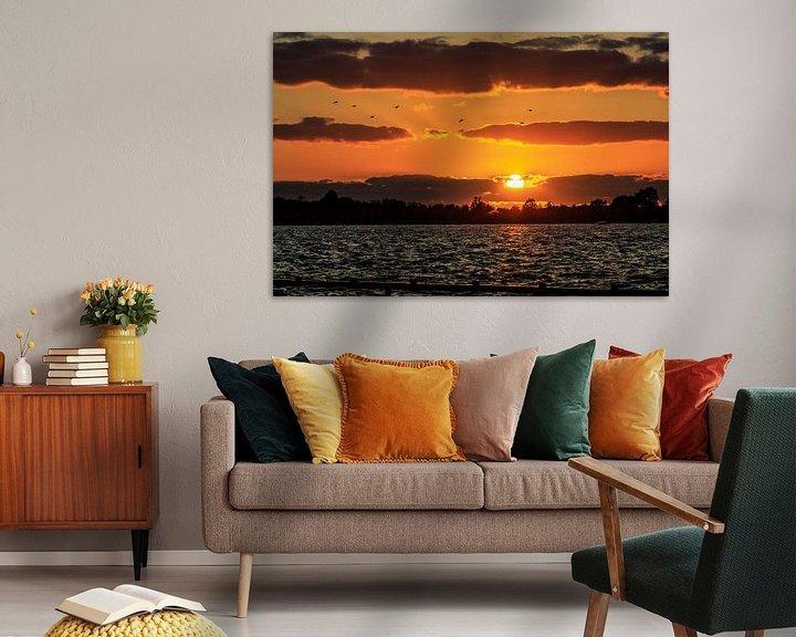 Sfeerimpressie: Loosdrechtseplassen zonsondergang / sunset van Dick Jeukens
