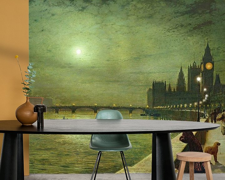 Beispiel fototapete: Reflections on the Thames, Westminster, John Atkinson Grimshaw