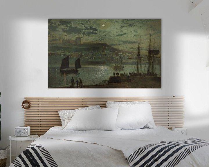 Beispiel: Whitby Harbor, John Atkinson Grimshaw