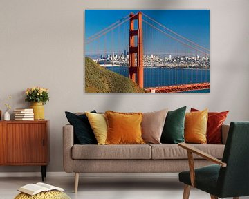 Golden Gate Bridge met de skyline van San Francisco