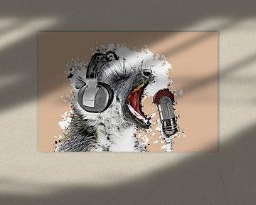 Singing Lemur von Angela Dölling