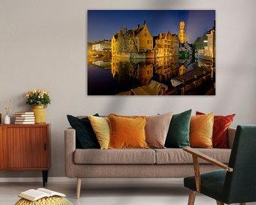 le Rozenhoedkaai à Bruges, en Belgique. Un des endroits les plus populaires parmi les touristes à Br