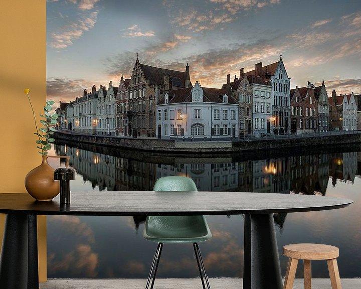 Impression: la statue de Jan van Eyckplein à Bruges, Bruges, Belgique, Belgique sur Fotografie Krist / Top Foto Vlaanderen