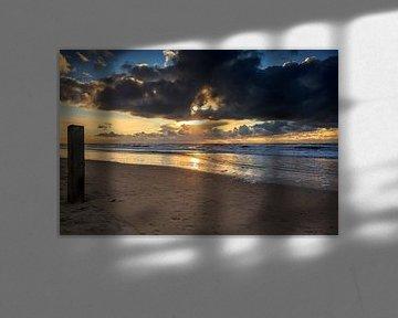 Castricum aan zee Zonsondergang / Sunset von Dick Jeukens
