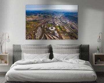 Neckarpark mit der Mercedes-Benz Arena in Stuttgart von Werner Dieterich