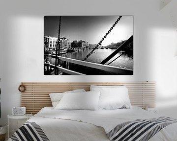 Brücke, Amsterdam (Schwarz-Weiß) von Rob Blok