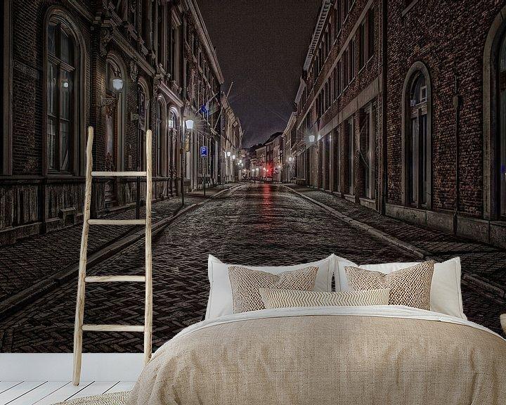 Sfeerimpressie behang: Swalmerstraat van Julian Buijzen