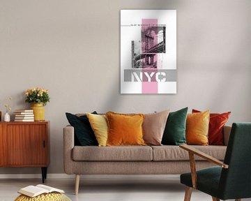 Poster Art NYC Manhattan Bridge von Melanie Viola