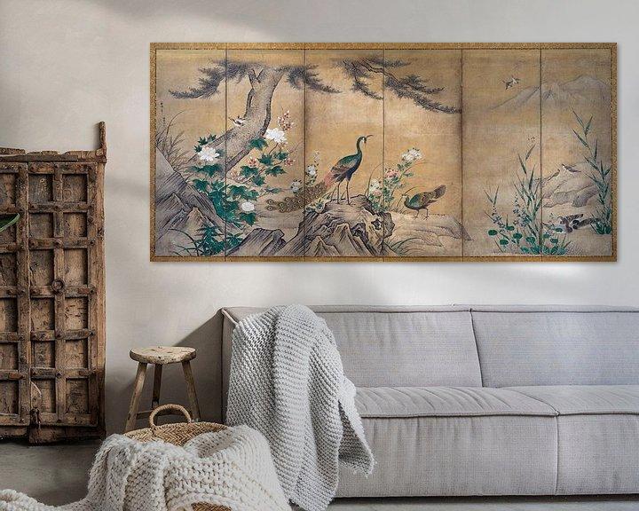 Sfeerimpressie: Kano Shoei. Vogels, bomen en bloemen