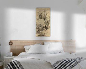 Yamamoto Baiitsu. Pruimen, bamboe en orchidee