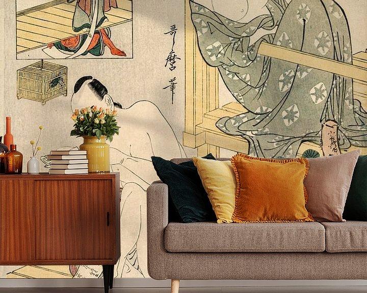 Beispiel fototapete: Kitagawa Utamaro. Akt VII aus der Serie Das Lagerhaus der treuen Gefolgsleute