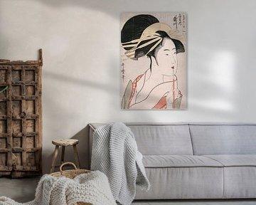 Kitagawa Utamaro.Ogiya Kurtisane Takigawa