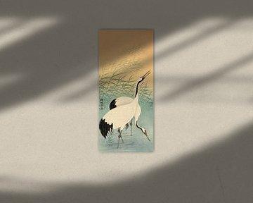 Twee kraanvogels, Ohara Koson