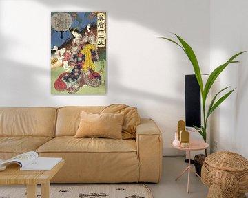 Zeichen des Hasen, Utagawa Kuniyoshi