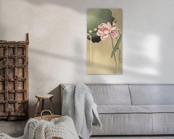 Lotus mit Vogel, Ohara Koson