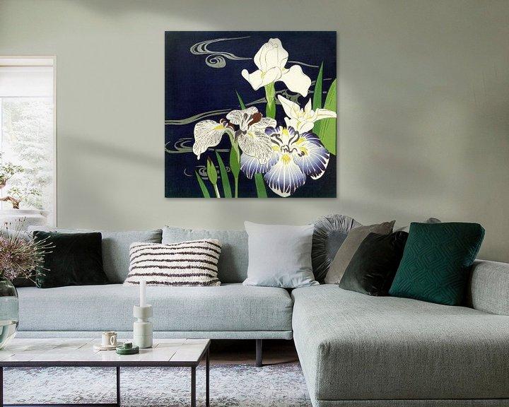 Sfeerimpressie: Irises, Tsukioka Kôgyo