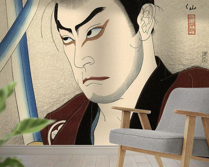 Beispiel fototapete: Der Schauspieler Sawada Shojiro als Hayashi Buhei, Natori Shunsen