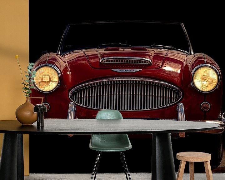 Sfeerimpressie behang: AUSTIN-HEALEY 3000 1961 van marco de Jonge