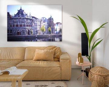 Le Waag sur le Spaarne à Haarlem dans la lumière du matin sur Karel Ham