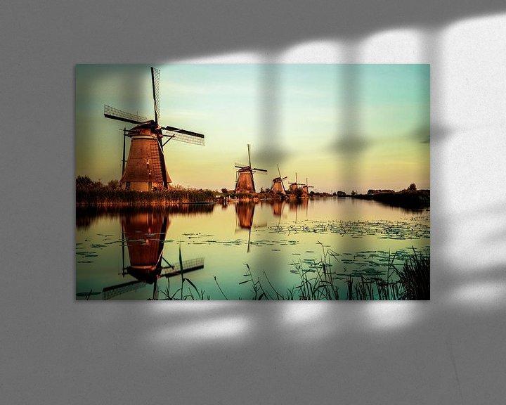 Beispiel: Kinderdijk Mühlen von Pierre Wolter