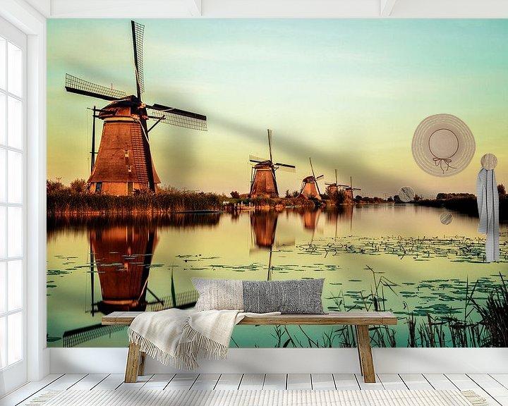 Beispiel fototapete: Kinderdijk Mühlen von Pierre Wolter