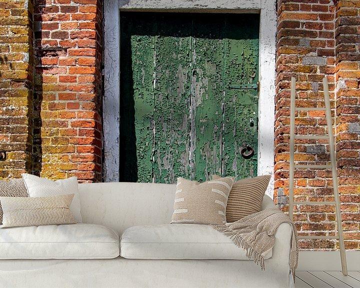 Beispiel fototapete: Alte Tür. von Anjo ten Kate