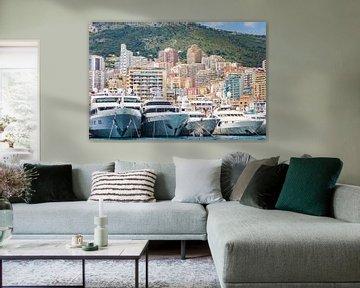 The port of Monaco during a Grand Prix competition von Michiel Ton