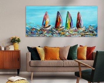 Fantasy Sailing von Gena Theheartofart