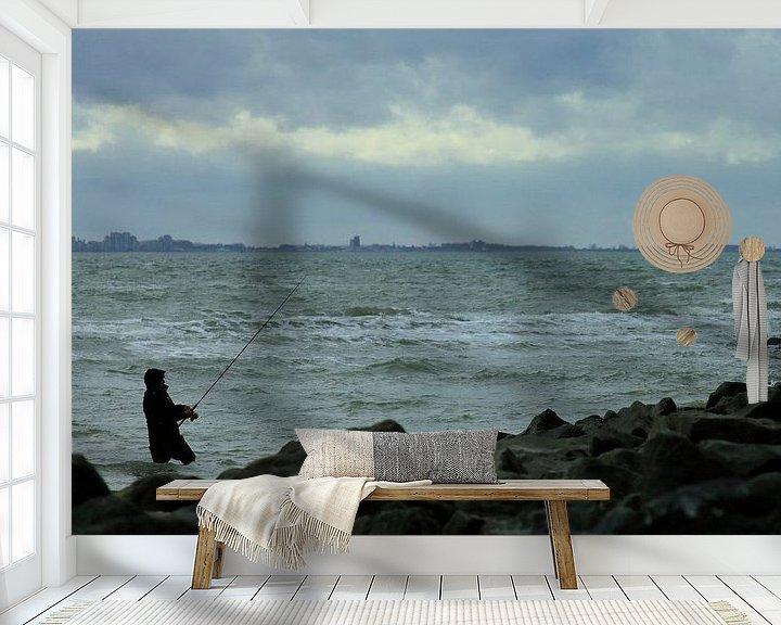 Sfeerimpressie behang: Studie: De Kaloot, Borssele - Zeeland van Patrice Domenique Troost