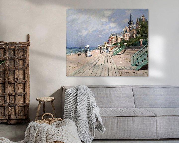 Beispiel: Am Strand von Trouville, Claude Monet