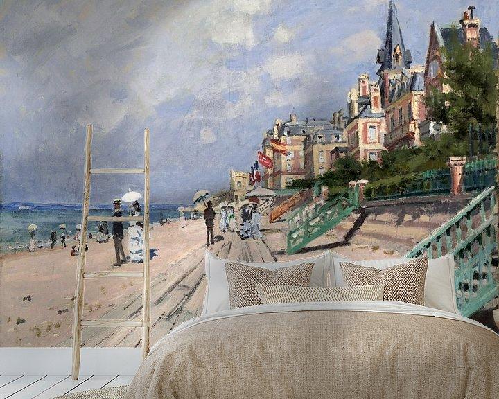 Beispiel fototapete: Am Strand von Trouville, Claude Monet