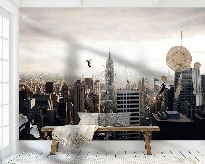 Sfeerimpressie behang: A city full of angel van Felix Neubauer